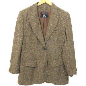 Vintage Burberry Tweed Blazer Sz 14 Not Perfect